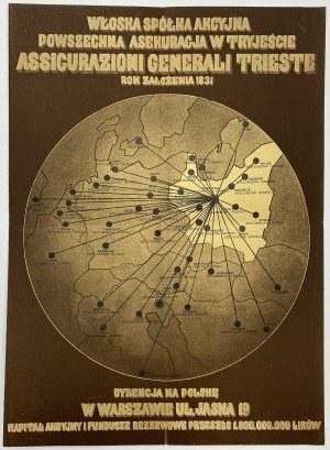 Włoska Sp. Akc. Powszechna Asekuracja w Tryjeście, Polisa od wypadków, Lwów 1936 r.