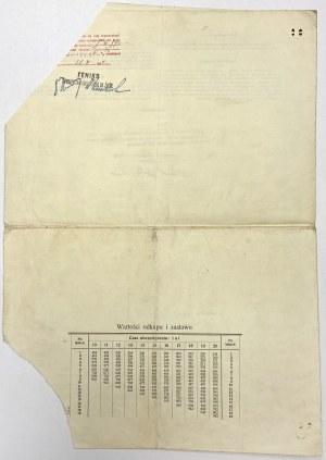 FENIKS Tow. Ubezpieczeń na życie, Polisa 2.500 zł 1932