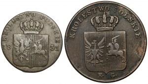 Powstanie Listopadowe, 3 i 10 groszy 1831 (2szt)