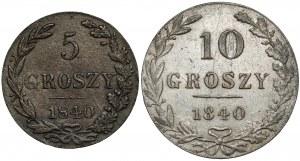 5 i 10 groszy 1840 - zestaw (2szt)