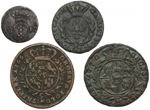 Od szeląga do trojaka - 1766-1812 - zestaw (4szt)
