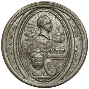 Medal, Dobroczyńcę Swojego Opłakująca Polska 1825 (średnica 16 mm!)