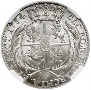 August III Sas, Ort Lipsk 1754 EC - PIĘKNY