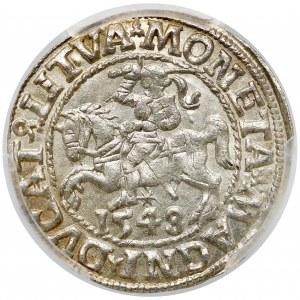 Zygmunt II August, Półgrosz Wilno 1548 - piękny