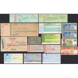 Czeki polskich banków (9szt), czeki przedwojenne (2szt) i inne MIX