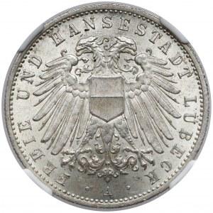 Lübeck, 2 mark 1911 A