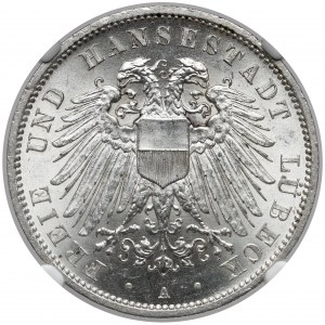 Lübeck, 3 mark 1913 A