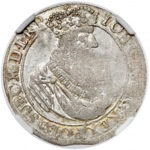 Jan II Kazimierz, Ort Gdańsk 1662 DL - lewek NIE w tarczy
