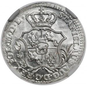 Poniatowski, Półzłotek 1766 FS - OKAZOWY