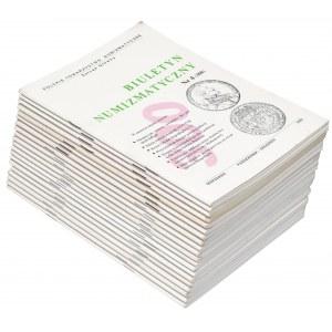 Biuletyn numizmatyczny KOMPLET za okres 1995-1999 (20szt)