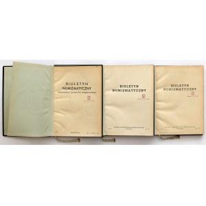 Biuletyn Numizmatyczny 1953-1955 - RZADKI (pierwsze lata, duży format)