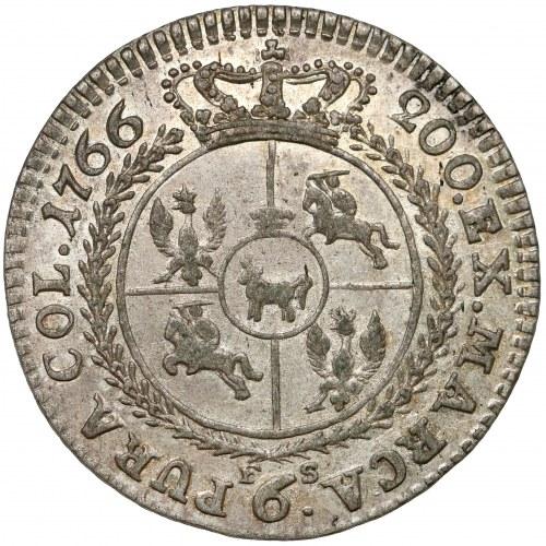 Poniatowski, PRÓBA Szóstak 1766 FS - RZADKOŚĆ