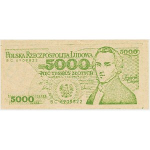 Solidarność, 5.000 złotych 1986 Fryderyk Chopin