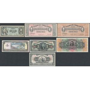 Mexico, Salvador, Peru - small lot od 7 banknotes