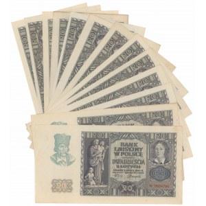 20 złotych 1940 - N (13szt)