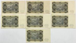 500 złotych 1940 - zestaw (7szt)