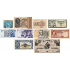 Greece, Norway, Germany, Hungary etc. - lot of 10 banknotes