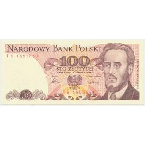 100 złotych 1986 - TB