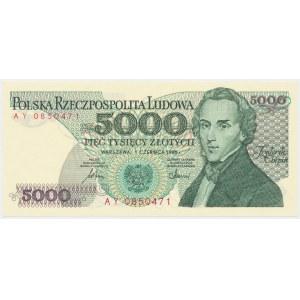 5.000 złotych 1986 - AY