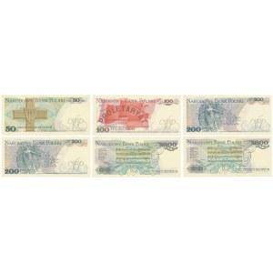 Zestaw banknotów PRL 50 - 5.000 zł (6szt)