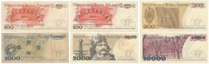Zestaw banknotów PRL 100 - 10.000 zł (6szt)
