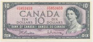 Canada, 10 Dollars 1954