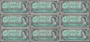 Kanada, 1 Dollar 1967 - zestaw (9szt)