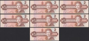 Kanada, 2 Dollars 1986 (7szt)