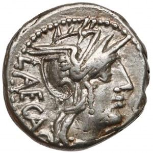 Republika, M. Porcius Laeca (125 p.n.e.) Denar