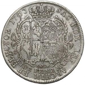 August III Sas, Talar 1763 FWóF, Drezno - ostatni