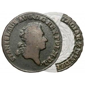 Poniatowski, Trojak 1786 E.B. - z MIEDZI KRAIOWEY - rzadki