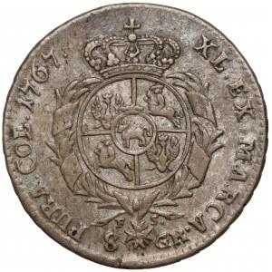 Poniatowski, Dwuzłotówka 1767 FS - wstęga nad