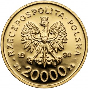 20.000 złotych 1990 Solidarność