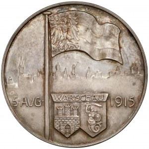 Medal, Wkroczenie Niemców do Warszawy 5 sierpnia 1915