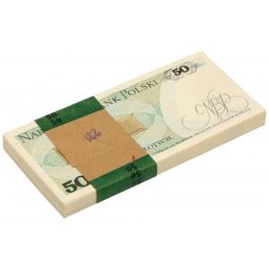 Paczka bankowa 50 złotych 1988 - GB