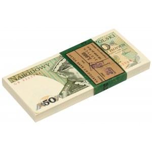 Paczka bankowa 50 złotych 1988 - GB - w tym numer radarowy 3361633