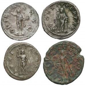 Cesarstwo Rzymskie, Gordian III - zestaw antoninianów i as (4szt)