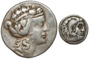 Grecja, Tetradrachma i Drachma - zestaw (2szt)