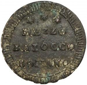 Watykan, Pius VI, Mezzo baiocco (1775-1799) - rzadszy