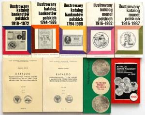 Katalogi monet i banknotów polskich, Kamiński, Kopicki (9szt)