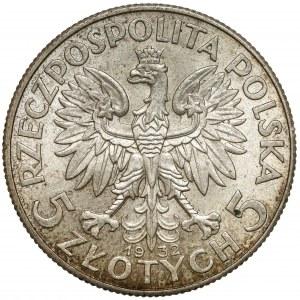 Głowa Kobiety 5 złotych 1932 bz, Londyn - piękna