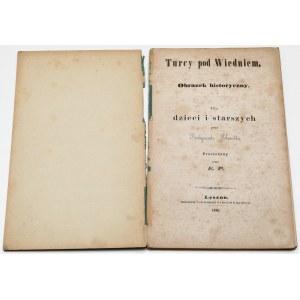 Turcy pod Wiedniem - obrazek historyczny dla dzieci..., Schmidt 1861