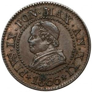 Watykan, Pius IX, Centesimo 1866