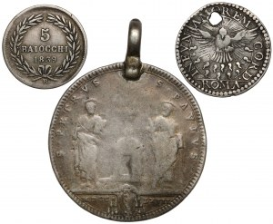 Watykan, zestaw srebrnych monet (3szt)