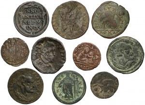 Watykan, zestaw monet - miedź / brązy (10szt)