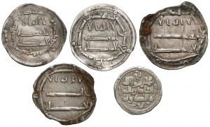 Islamic set of 5 silver dirhams ca. AD 749-1030