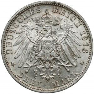 Bayern, 3 mark 1913-D