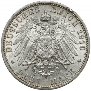 Preussen, 3 mark 1910 A