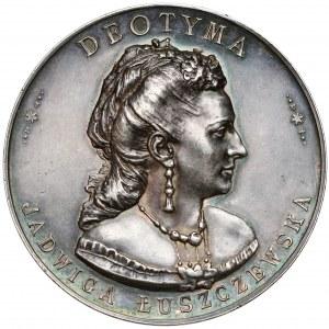 """Medal, Jadwiga """"Deotyma"""" Łuszczewska 1897 - SREBRO - rzadkość"""