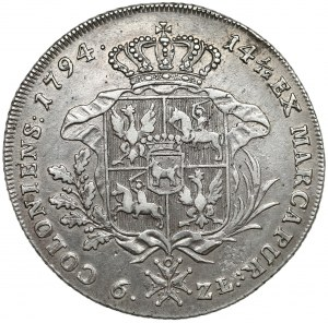 Poniatowski, Talar 6-złotowy 1794